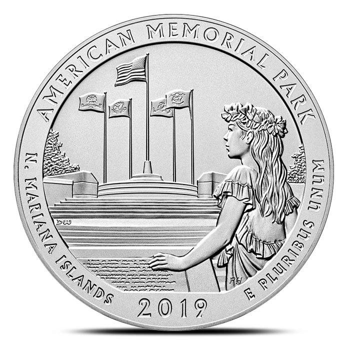 2019 5 oz Silver ATB American Memorial Park, Mariana Islands
