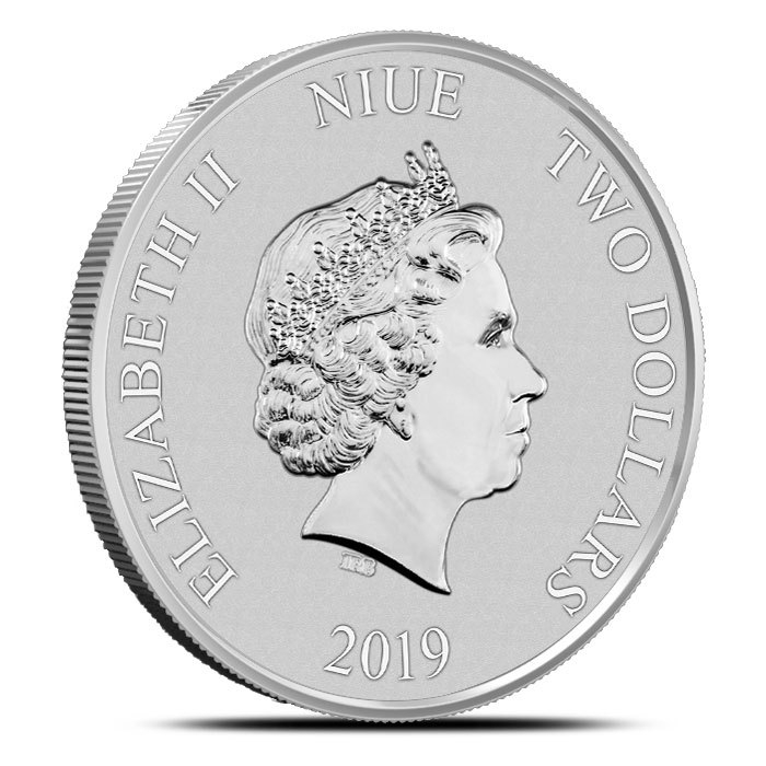 2019 Niue Darth Vader 1 oz Silver Coin Obverse