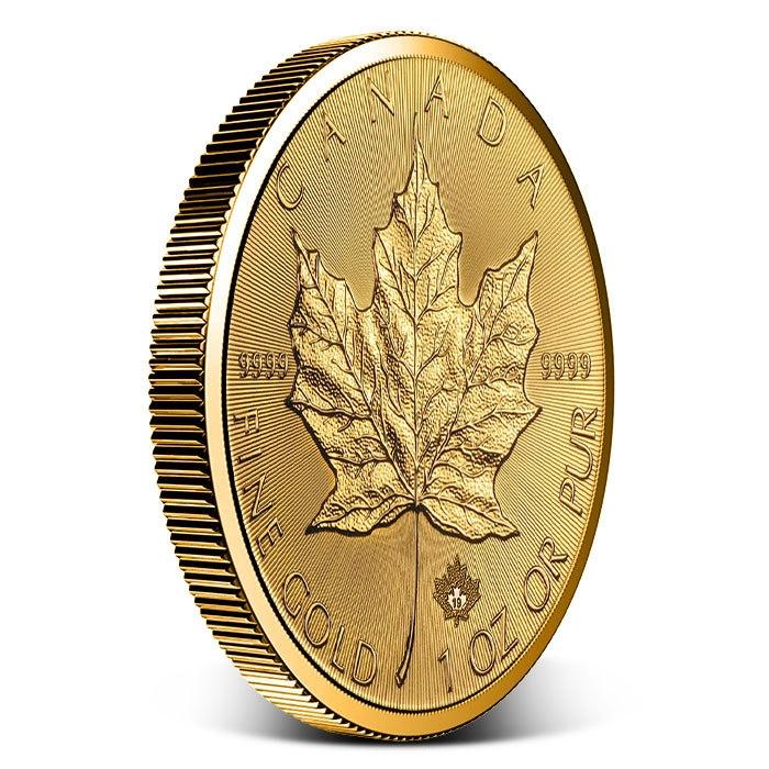 2019 Canadian 1 oz Gold Incuse Maple Leaf