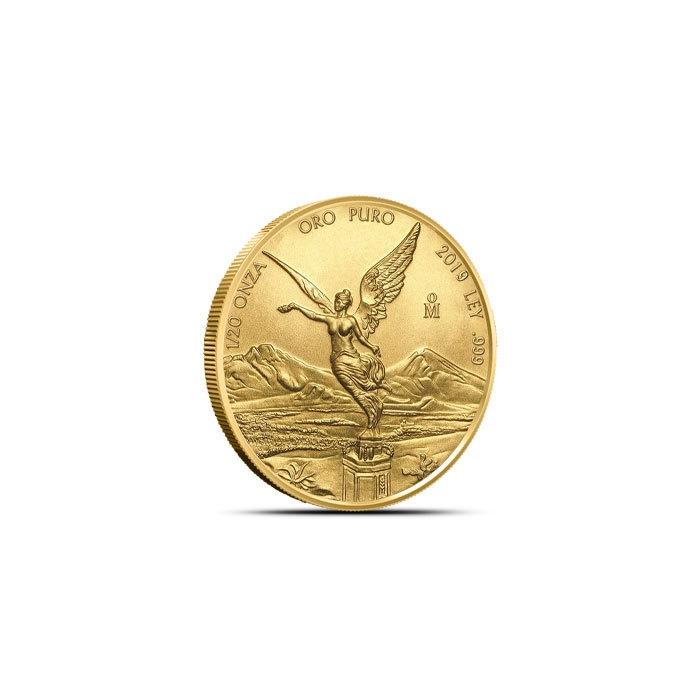 2019 Mexican 1/20 gold libertad reverse