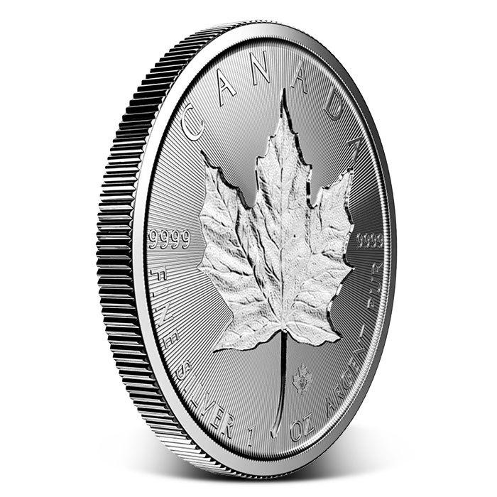 2019 Canadian 1 oz Silver Incuse Maple Leaf