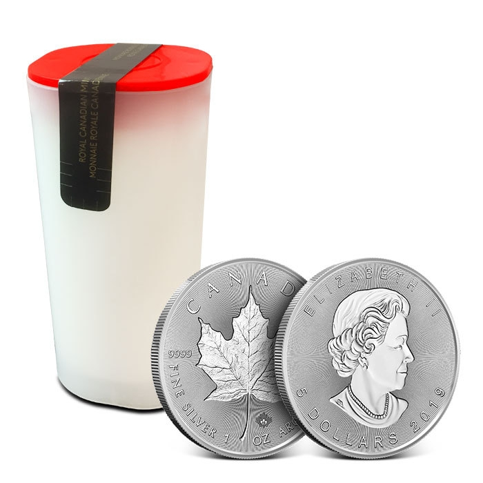 2019 Canadian 1 oz Silver Incuse Maple Leaf