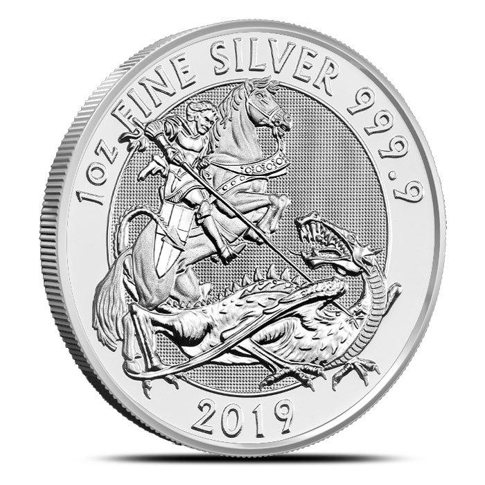 2019 Great Britain 1 oz Silver Valiant Coin Reverse