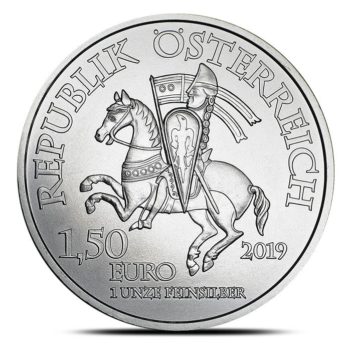 2019 Austrian 1 oz Silver Wiener Neustadt | 825th Anniversary