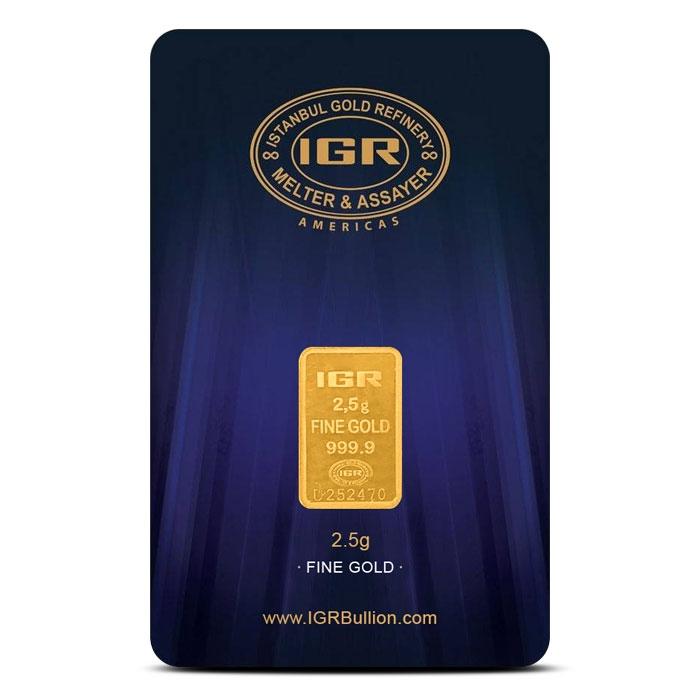 2.5 gram Gold Bar | Istanbul Gold Refinery