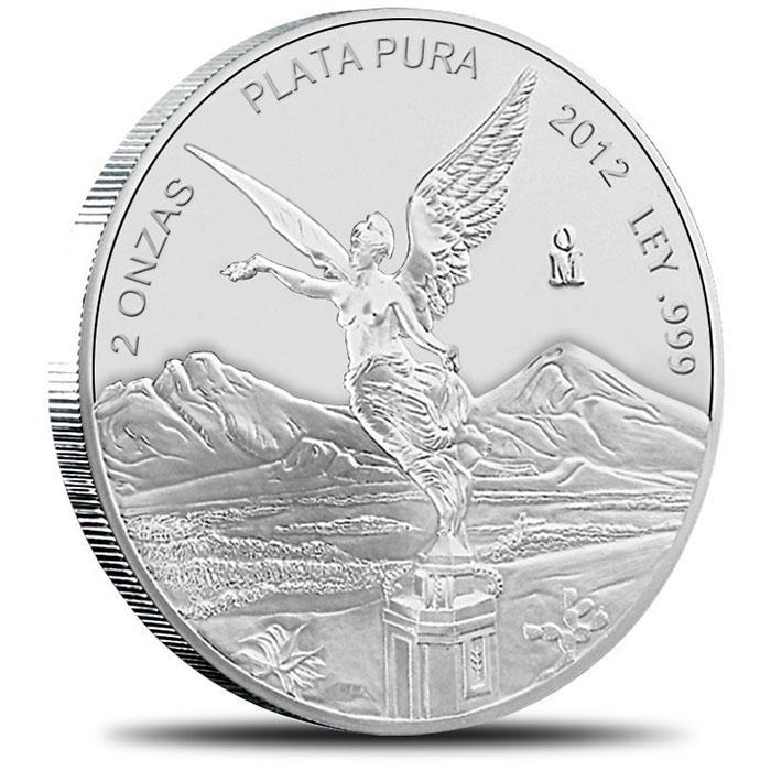 2012 2 oz Mexican Silver Libertad Obverse