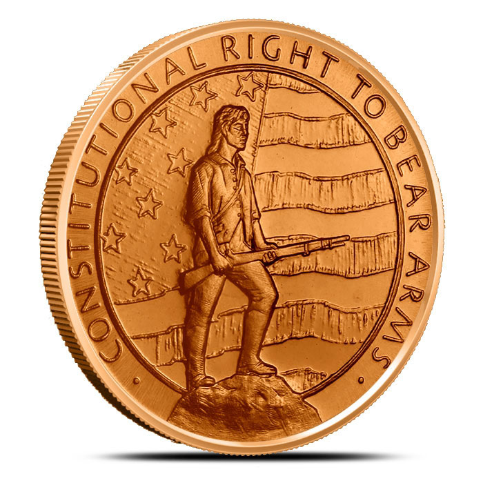 1 oz Copper Round | 2nd Amendment