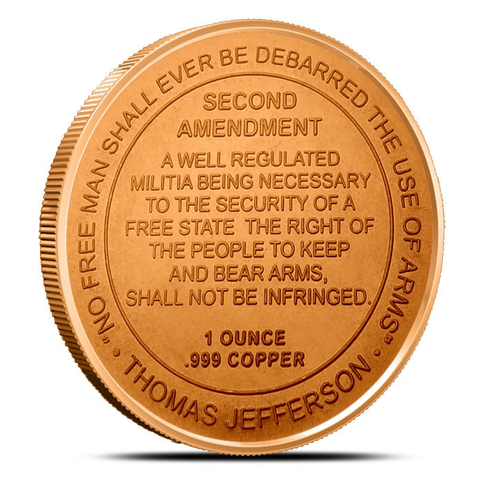 1 oz Copper Round | 2nd Amendment Reverse