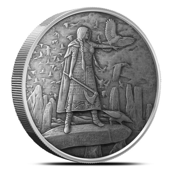 The Morrigan 5 oz Antique Silver   Celtic Lore Series