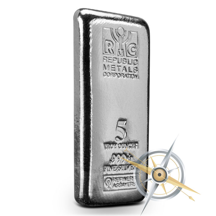 5 oz Cast Silver Bar | RMC
