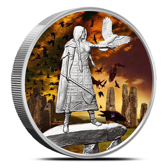The Morrigan 5 oz Silver Colorized | Celtic Lore Series
