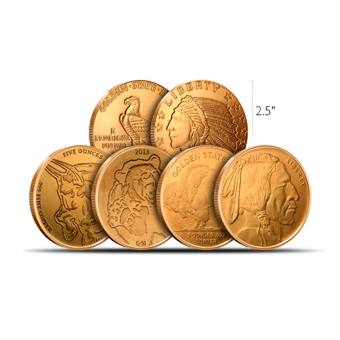 5 oz Copper Round | Our Choice