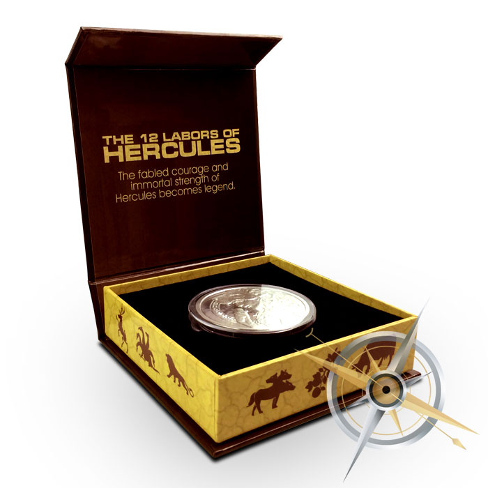 5 oz Silver Proof Hercules Open Box