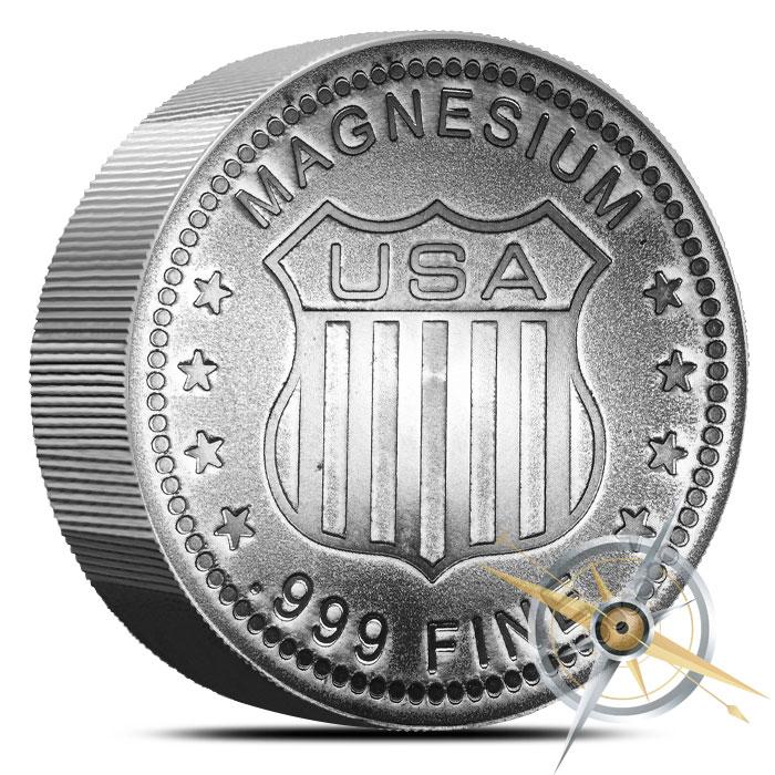 Walking Liberty Magnesium Round   5 ounces