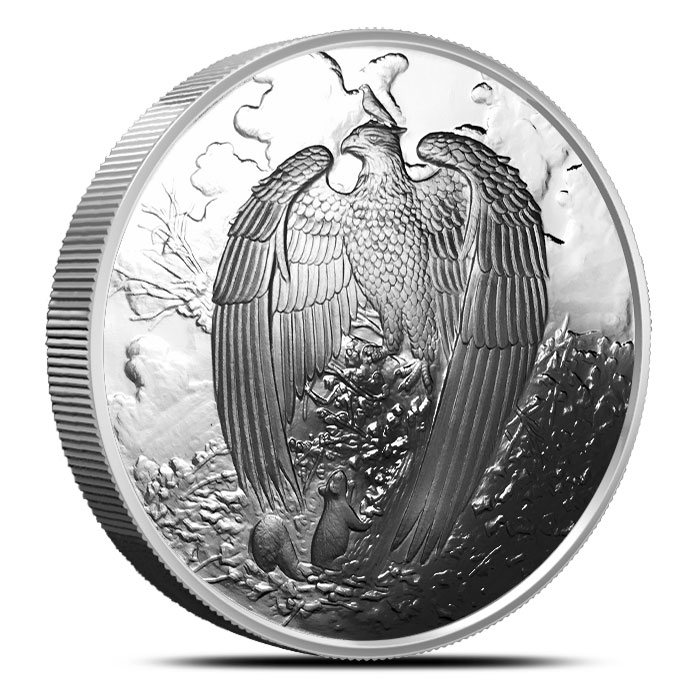 Great Eagle Proof Silver Round   5 oz