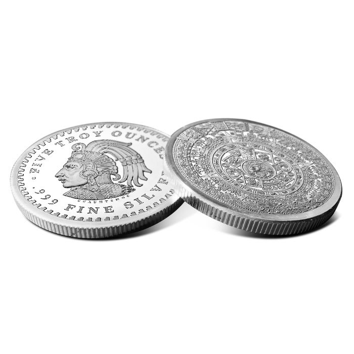 5 oz Silver Round | Aztec Calendar