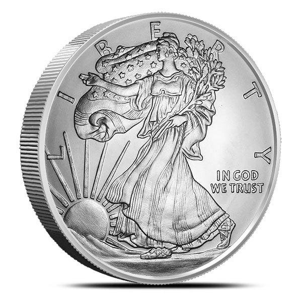 5 oz Silver Walking Liberty Round Front