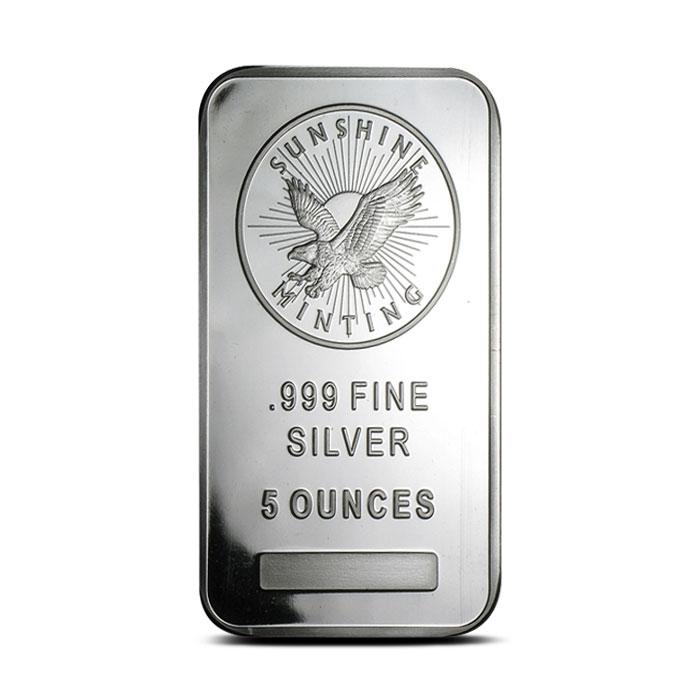 5 oz Silver Bar Sunshine Mint