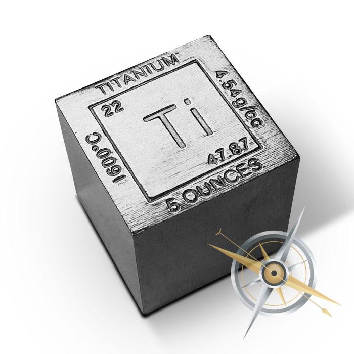 Elemental 5 oz Titanium Cube