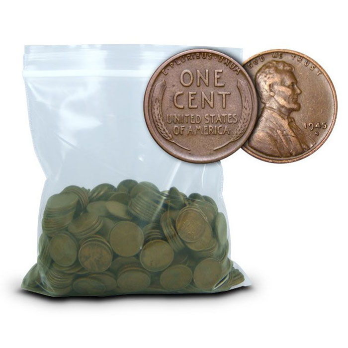 500 pc AU Bag of Lincoln Wheat Cents