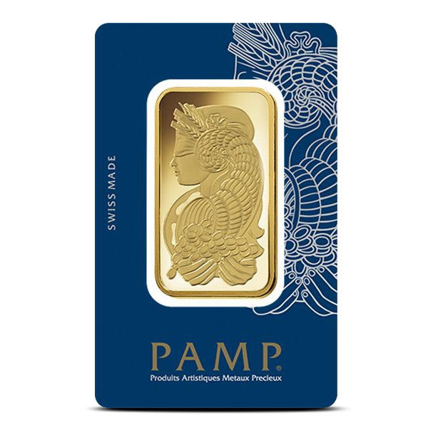 50 gram Gold Bar PAMP Fortuna Front