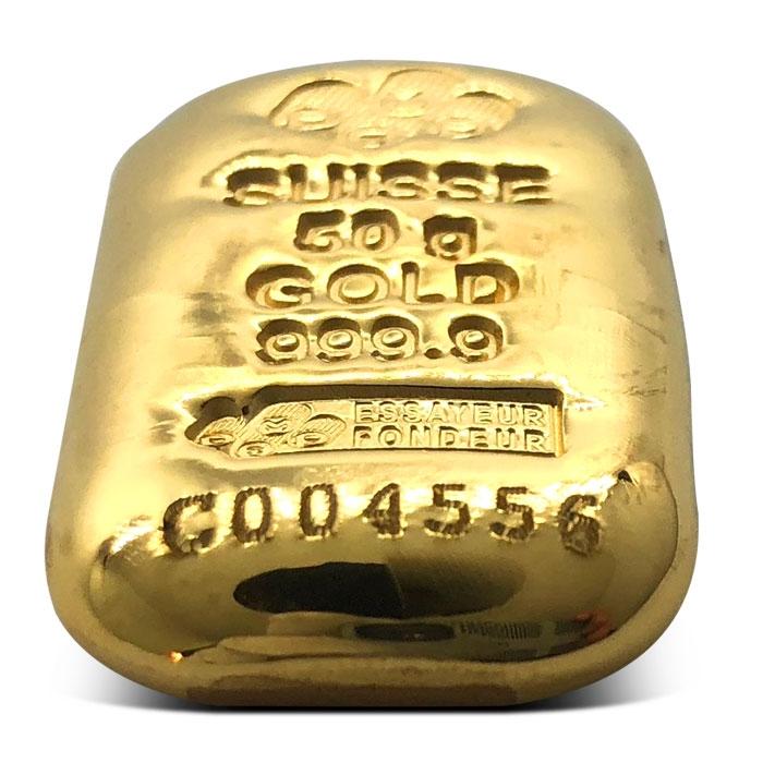 PAMP Suisse 50 gram Gold Bar