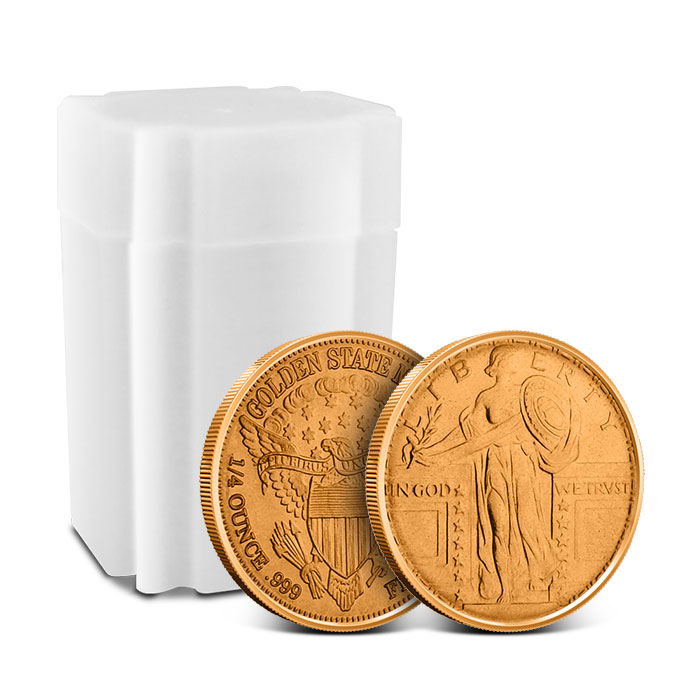 Standing Liberty Fourth oz Copper Rounds and Roll