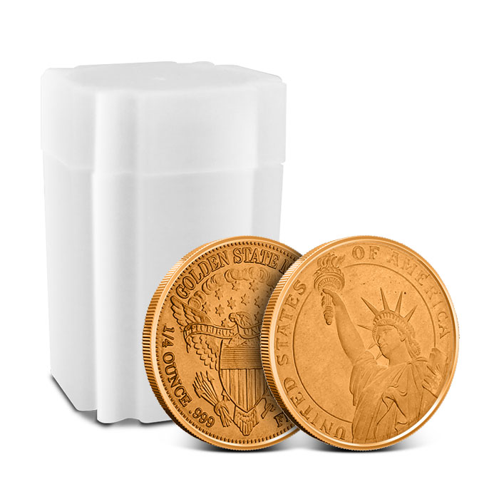 Statue of Liberty 1/4 oz Copper Round - roll of 20