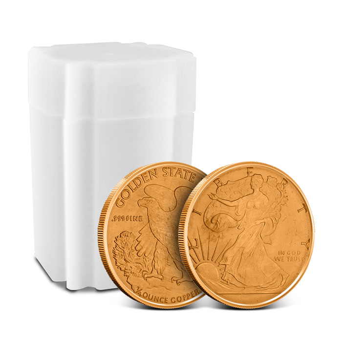 Walking Liberty 1/4 oz Copper Round with Tube