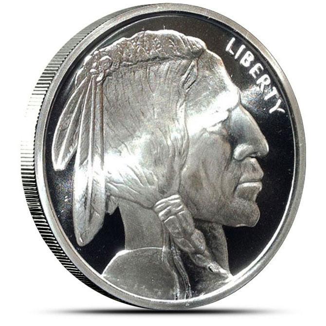 5 oz GSM Buffalo Silver Round Front