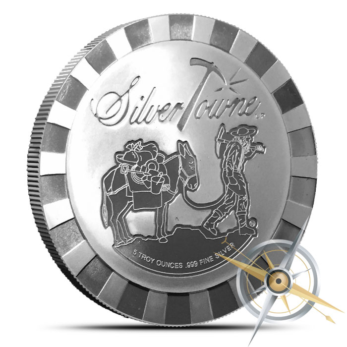 Stackable Prospector 5 oz Silver Round | SilverTowne