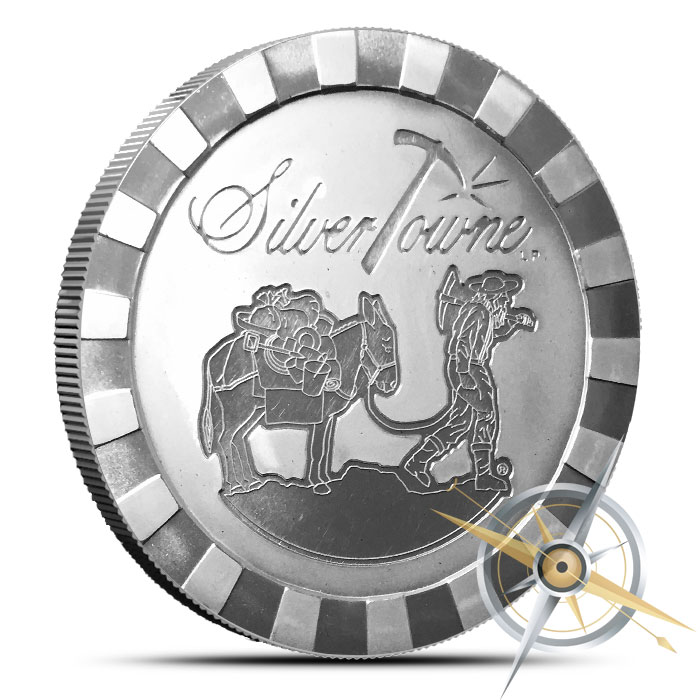 Stackable Prospector five ounce Silver Round | SilverTowne