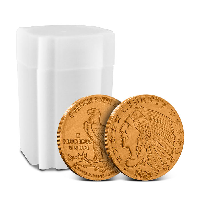 Incuse Indian 1/4 oz Copper Round with Tube