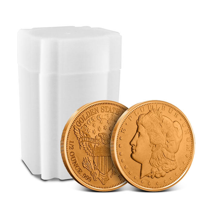 Morgan Dollar 1/2 oz Copper Round with Roll