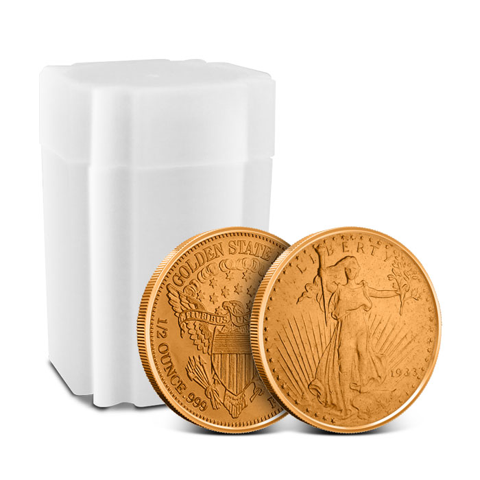 Saint Gaudens 1/2 oz Copper Round with Roll