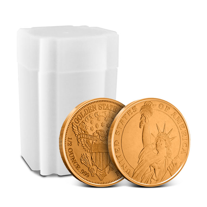 Statue of Liberty 1/2 oz Copper Round with Roll