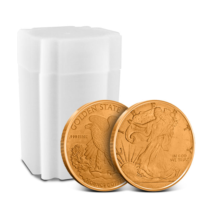 Walking Liberty 1/2 oz Copper Round with Roll of 20