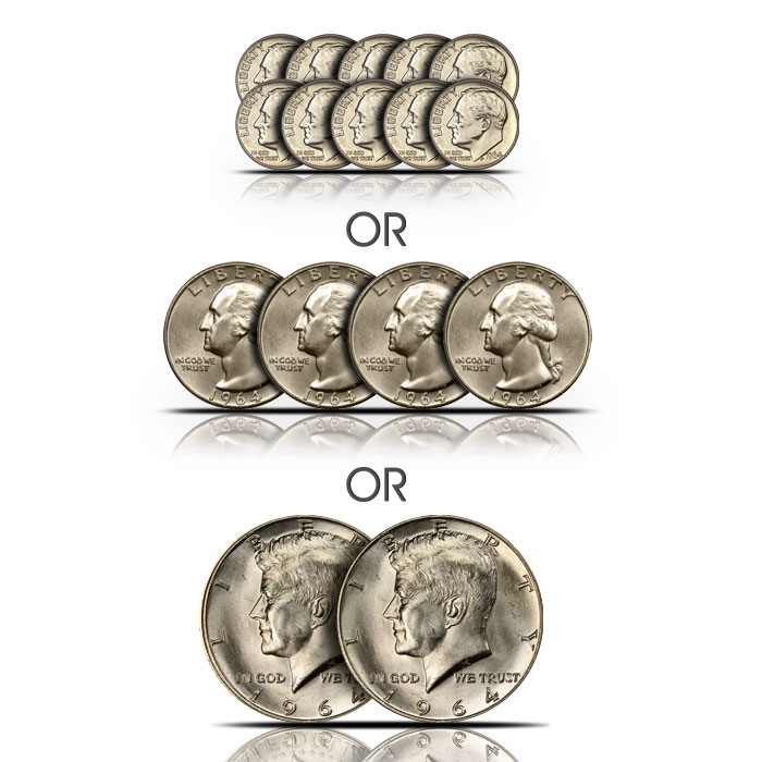 Old Rare UNCIRCULATED US Kennedy Half Dollar Mint Coin Mixed Lot!!