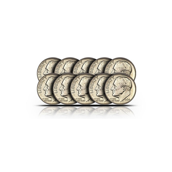 BU Roosevelt 90% Silver Dimes   $1 Face Value