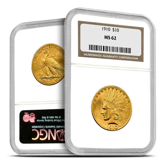 $10 Indian Head NGC MS62 Gold Eagle Coin