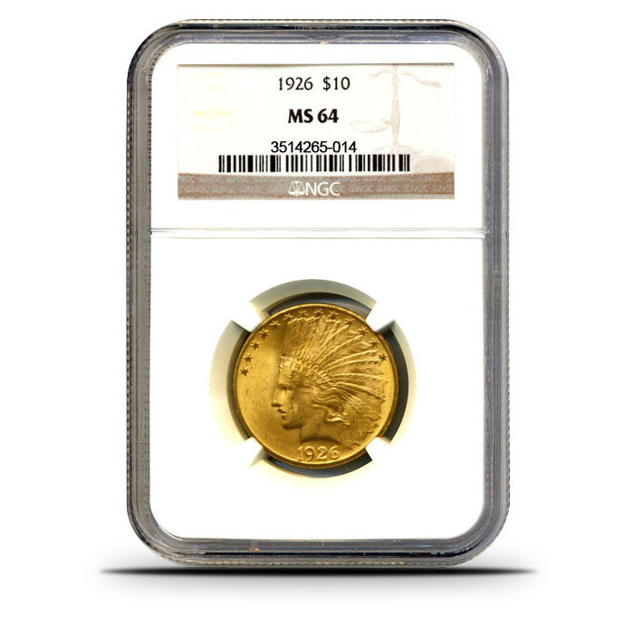 $10 Indian Head Gold Eagle | NGC MS64 Obverse