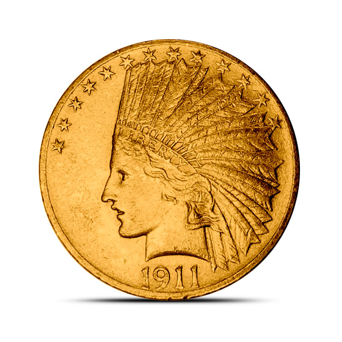XF $10 Indian Gold Eagle