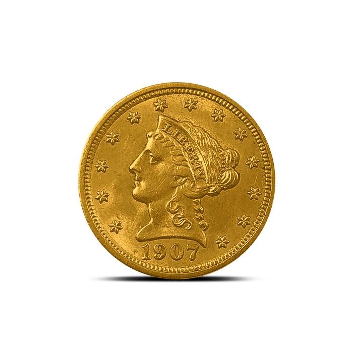 $2.50 Liberty Gold Quarter Eagle | AU+