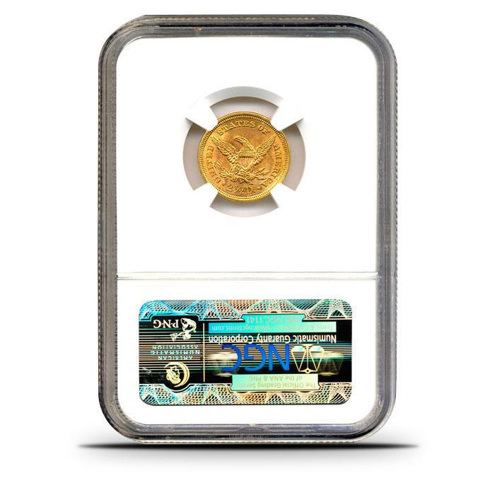$2.50 Liberty Quarter Eagle | NGC MS65 Reverse