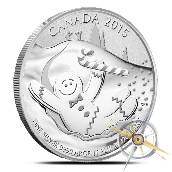$20 for $20 Gingerbread Man Silver Coin