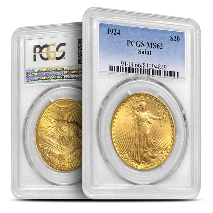 Saint Gaudens $20 Gold Coin | PCGS MS62