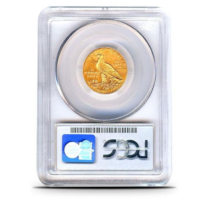 $5 Indian Head Gold Half Eagle | PCGS MS64 Reverse