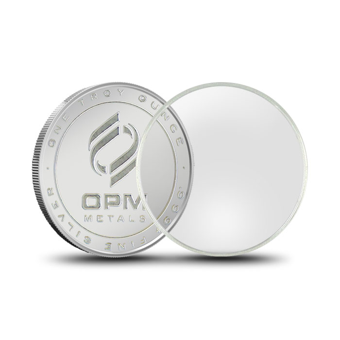 Air-Tite Plastic Coin Holder | Silver Rounds 39mm