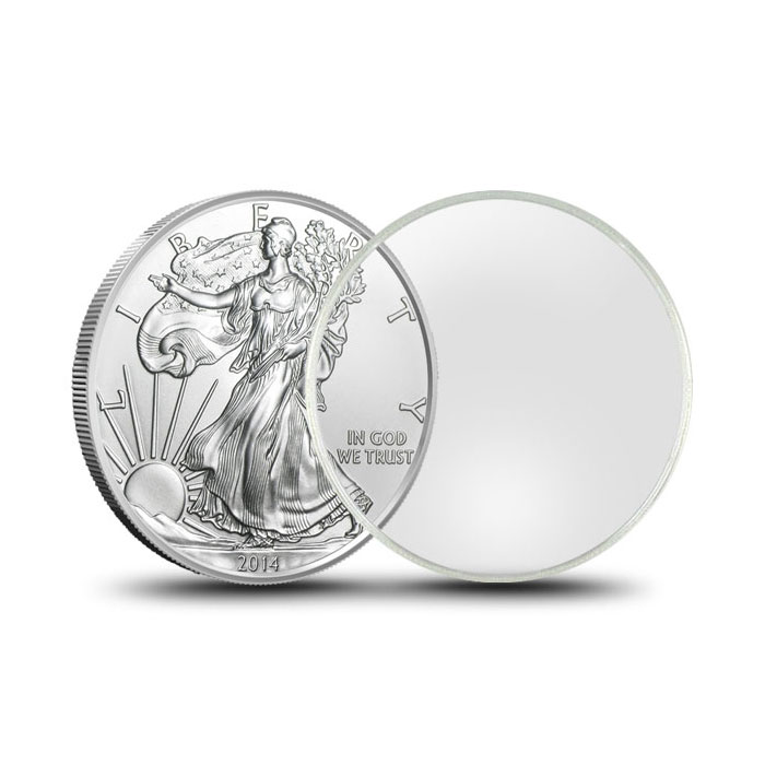 Air-Tite Plastic Coin Holder | Silver Eagle 40.6mm