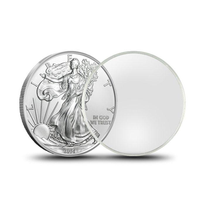 Air-Tite Plastic Coin Holder   Silver Eagle 40.6mm